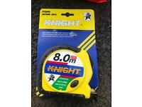 8mt Tape Measures - Knight Brand All New £3