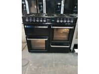 Black A++ Class 8 Burners Flavel Milano 100 Gas Range Cooker And New World Hood