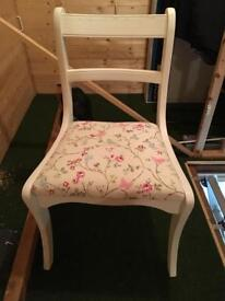 Four up-cycled dining / occasional chairs
