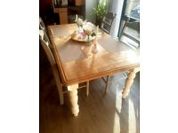 Upcycled Wooden Shabby chic 6-seater dining Table