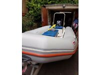 Valiant d380 dinghy trailer and 20hp engine