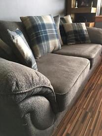 2 x 3 seater sofas + footstool