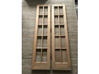 HEMLOCK INTERNAL/EXTERNAL UNGLAZED FRENCH BI-FOLD WOODEN DOORS 10 PANELS