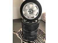 """Wheels with tyres set 18"""" 5x112"""
