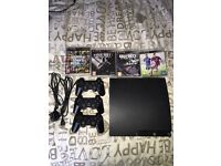 Ps3 with 3 controllers all leads and 4 games