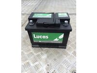 Lucas battery removed from a golf