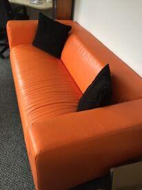 Orange Sofa from Ikea