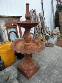 Stunning Large Vintage Water Feature Fountain Cast Iron - UK Delivery