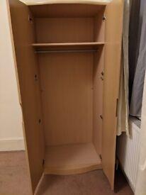 Wood laminate brown wardrobe