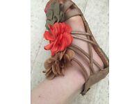Next Floral Corsage Gladiator Sandals