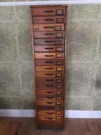 Haberdashery Apothecary Chest Of Drawers Plans Antique Vintage Industrial Shop