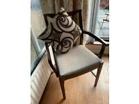 Vintage Meredew Carver Wooden Chair