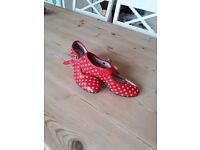Authentic flamenco girl shoes size 13