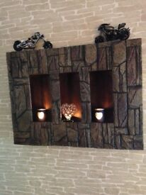 Wall art. Box frame. Slate / brick effect