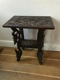 Solid decorative hardwood table
