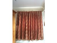 Fully lined and interlined pair of curtains