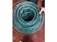 Galvanised green wire fencing