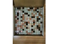 Mosaic tiles Original Style glass and ceramic, two tiles