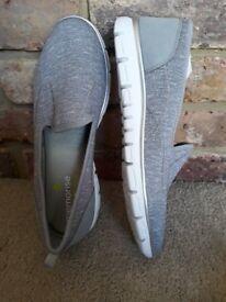 Hotter Women's Cloud Loafers Memorise Ladies Shoe (Pebble Grey) UK 7.5