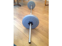 York barbell with weight