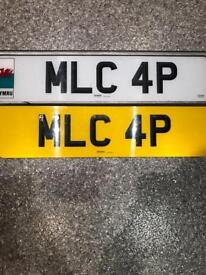Private number plate MLC 4P