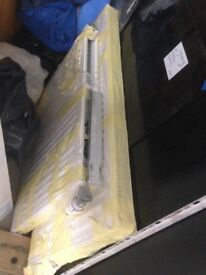 2 single panel radiators white.1100x600mm and 800x600mm.With