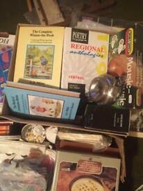 Car boot items and antique books