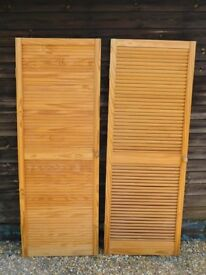 "Two wooden louvre doors 24"" x 66"" (610 x 6770)"