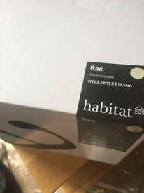 Habitat cream lamp pendant