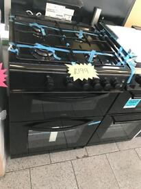 Logic 60cm black gas cooker comes with 6 months warranty