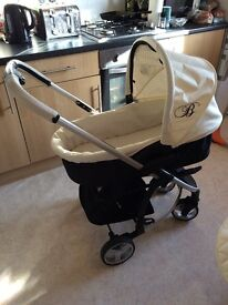 My Babiie Billie Faiers Cream Travel System Includes Carry Cot, Pushchair and Carseat
