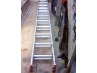 extension 2 section ladder 2 x 3.4 m ,when extended over 6 m