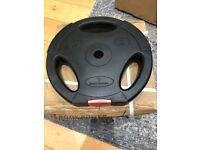 2x 10kg (20kg)Body Power Tri Grip Vinyl Standard (1 Inch) Weight Disc Plates NEW