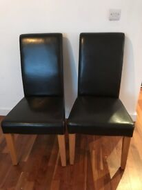 Real leather designer chairs; perfect condition; £30 each