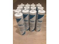 Mastic - 13 new tubes of acoustic & intumescent sealant