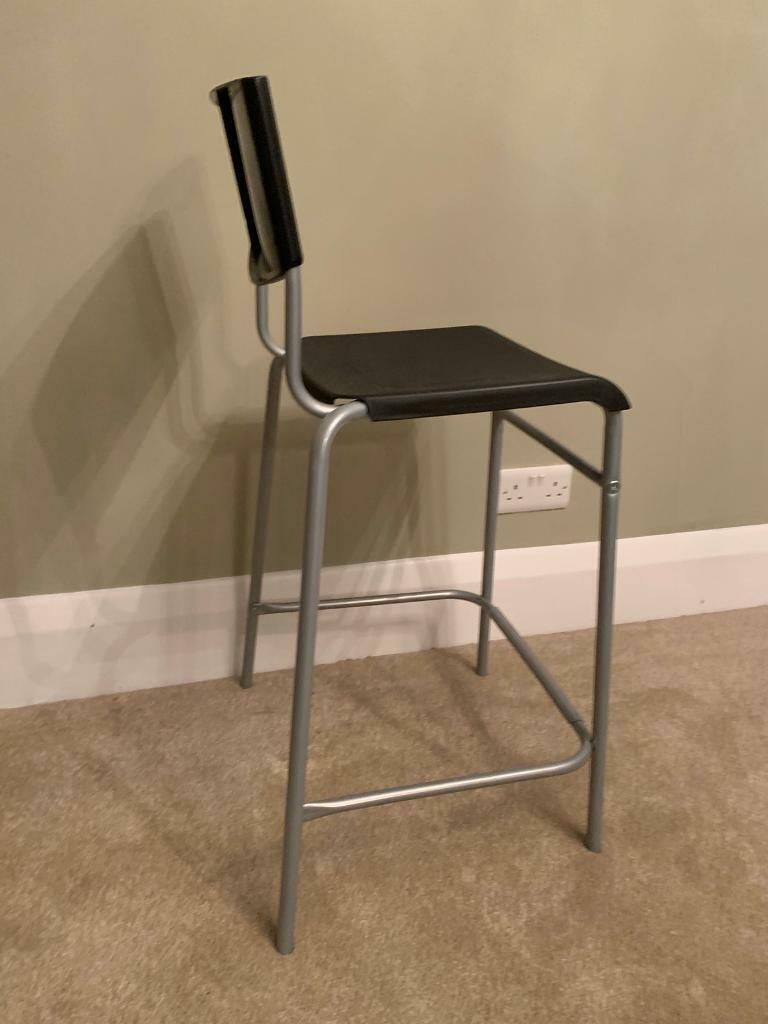 Magnificent Stig Bar Stool With Backrest Black Silver Colour 74 Cm In Cosham Hampshire Gumtree Gmtry Best Dining Table And Chair Ideas Images Gmtryco