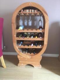 Pine wine rack