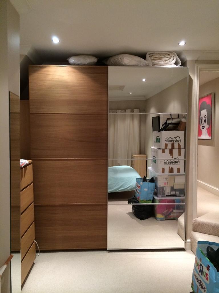 Ikea Pax Malm Oak Effect And Mirror Sliding Door Wardrobes