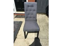 Free 4 Grey dining Chairs