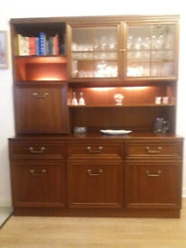 G-Plan Dining Furniture - sideboard with display unit