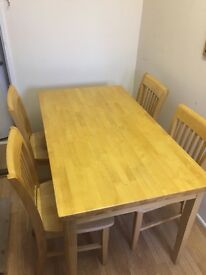 Table & 4 chairs, VGC