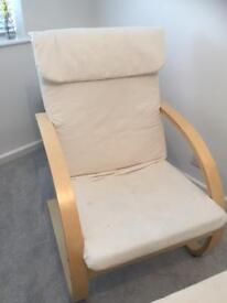 Ikea Chair and Footstall