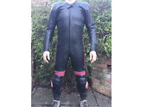 Crowtree One Piece Racing Leathers Black - Hardly used
