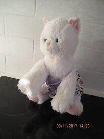 OFFICIAL BUILD A BEAR CAT - Great for Gift REDUCED! + FREE soft toy if wanted IMMACULATE CONDITION