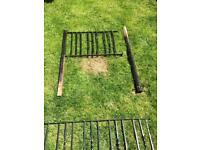 Metal garden gate and railings
