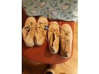 x 2 pairs Pegasus Mens Shoes UK 9 Camel Colour Soft Suede Lace-up Shoes