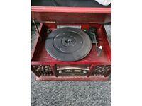 Turntable/ cd player and radio