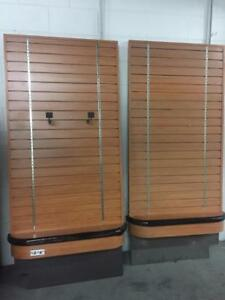 Display Fixtures & Shelving -Wood Wall-Mount Retail Store