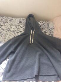 grey cropped hoodie