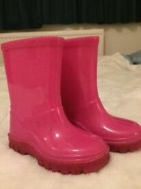 Girl infant wellies, seize 5
